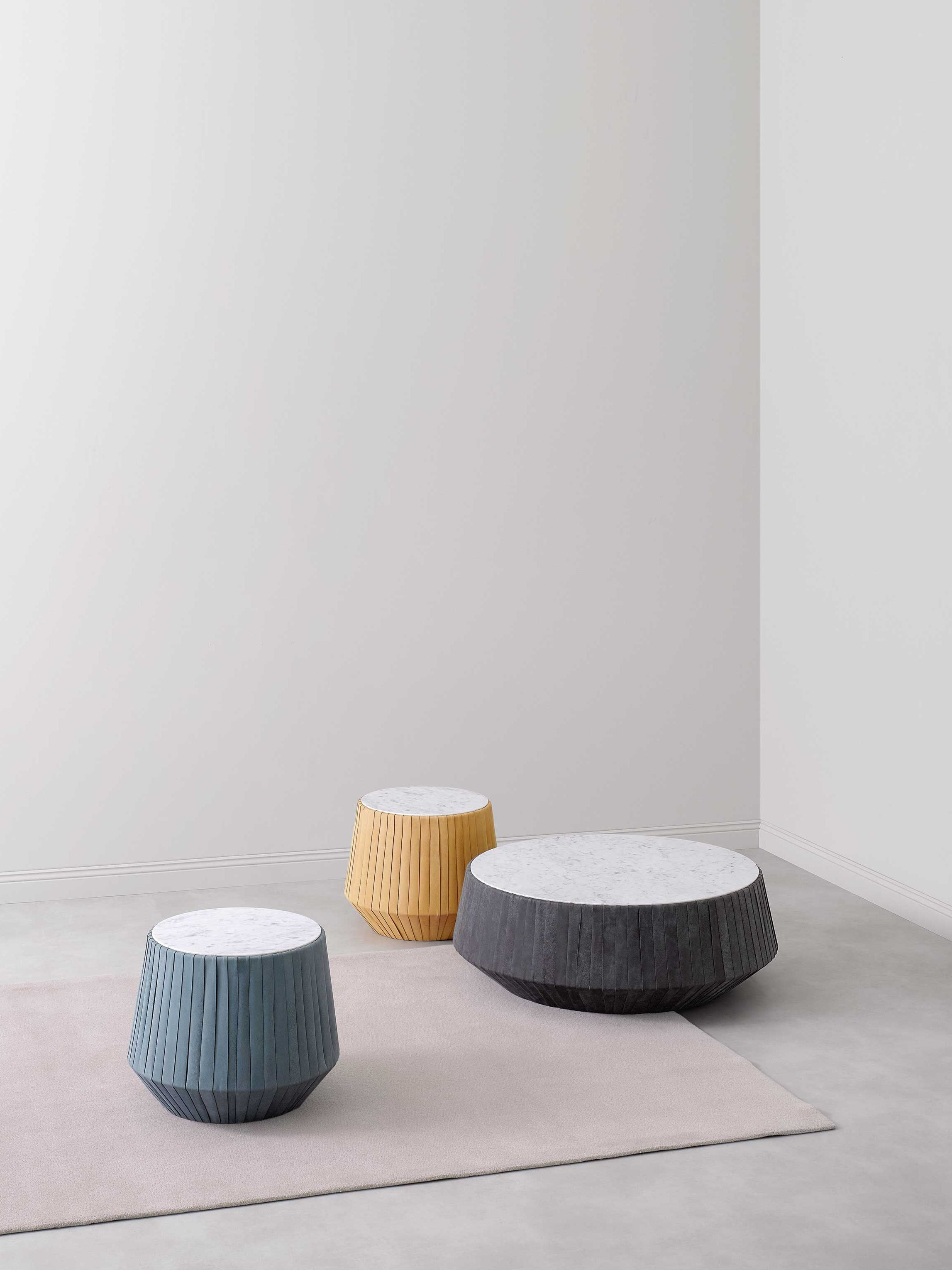 - Round Leather Coffee Table HOOP By Paola Zani Design Gianluca