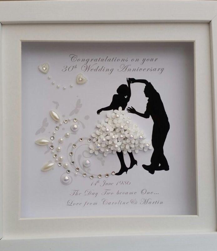 Personalised deep box frame wedding anniversary jive waltz dancing ...