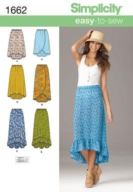 Simplicity Creative Group - Misses' Easy to Sew Skirts