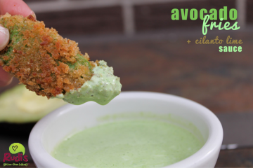 Avocado Fries with Cilantro Lime Sauce by Guest Blogger Marissa Rudi's Bakery