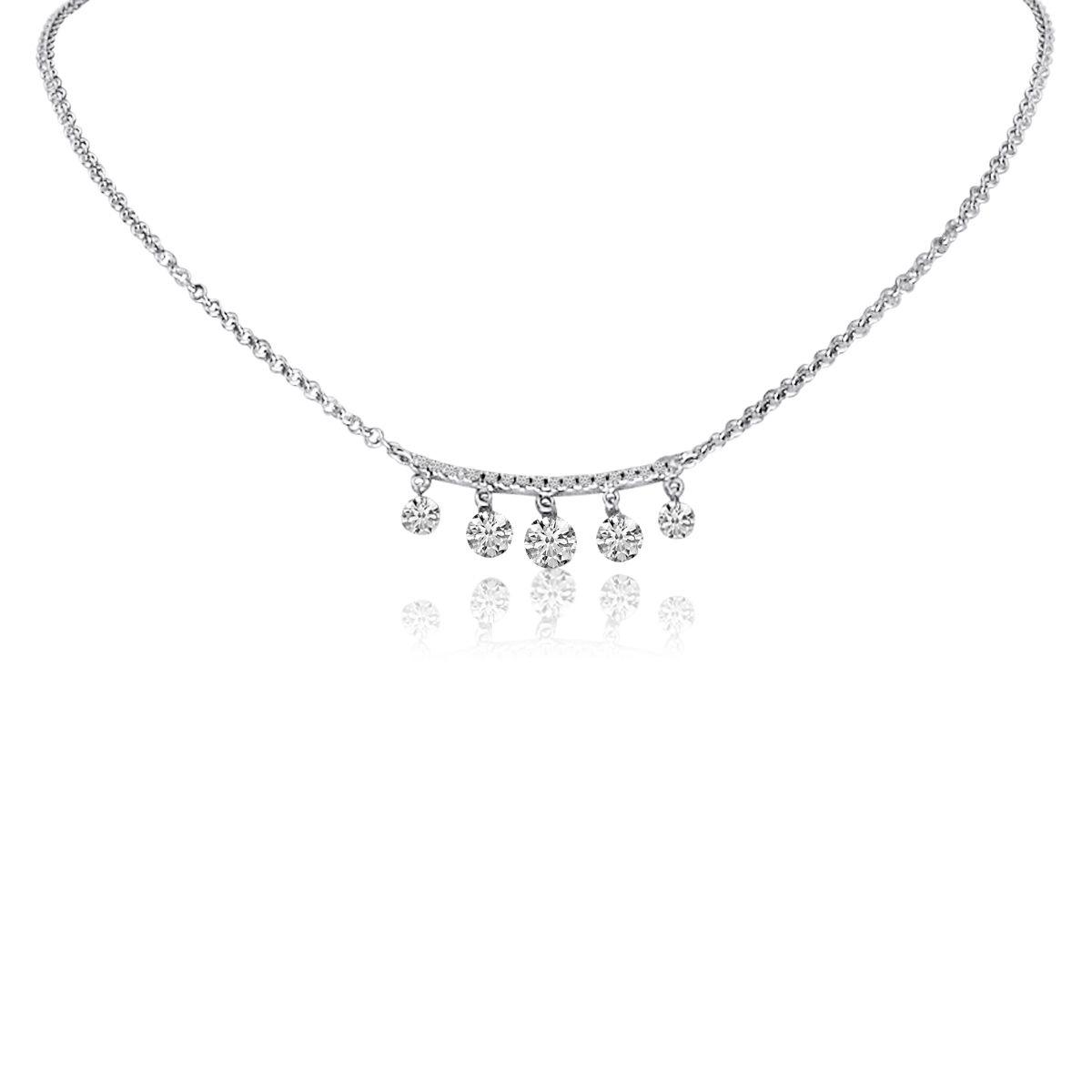 f51136380c681 Simply stunning! This 14K White Gold Five Pierced Dangling Dashing ...