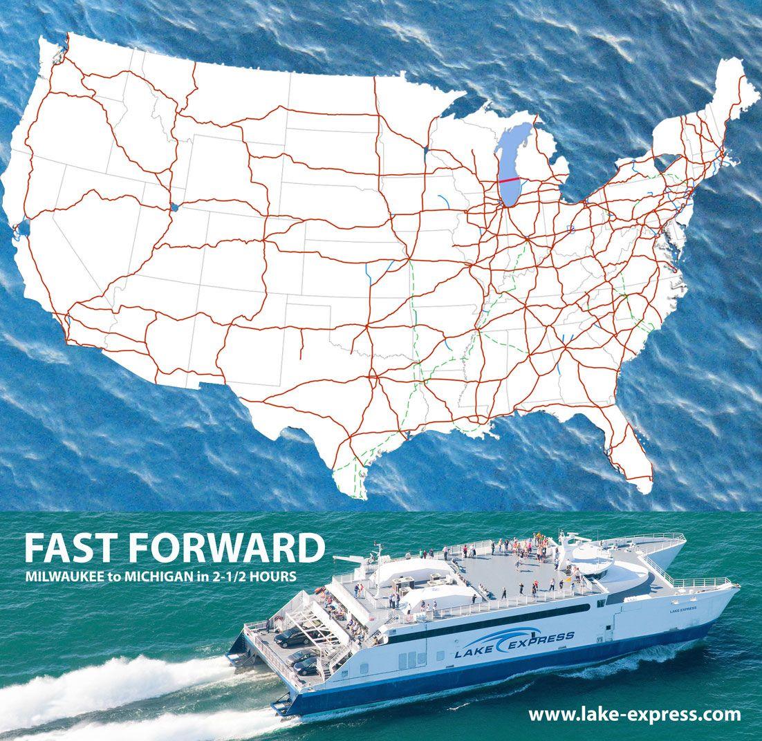 Places To Visit On Lake Michigan In Wisconsin: America's Shortcut Across Lake Michigan. The Lake Express
