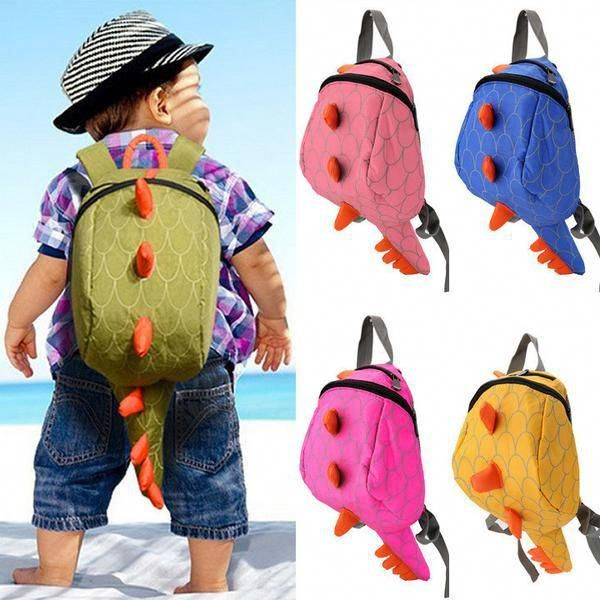 3D Dinosaur Backpack School Book Bag Dinosaur for Preschool Kids Children Gift
