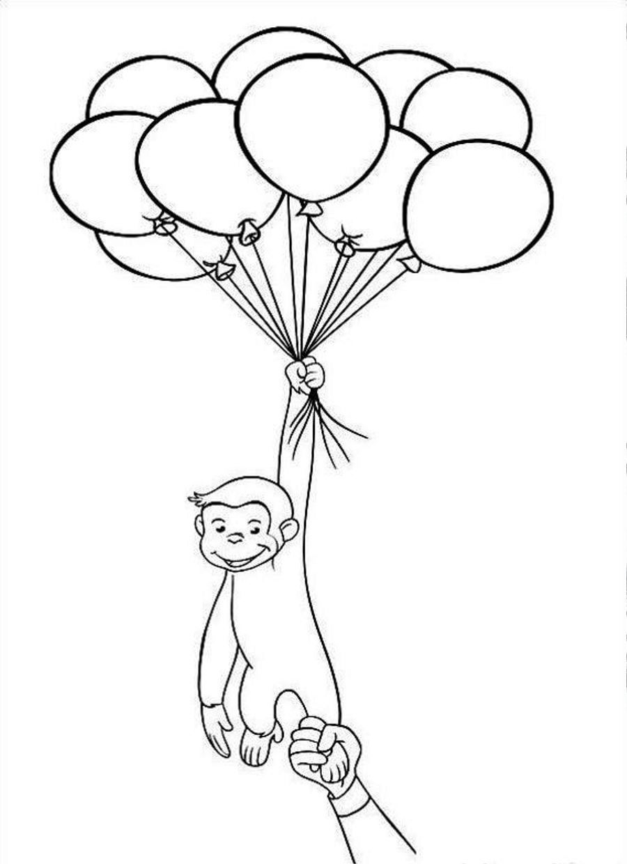 Curious George Free Printable Coloring Pages No 7 in 2020 ...