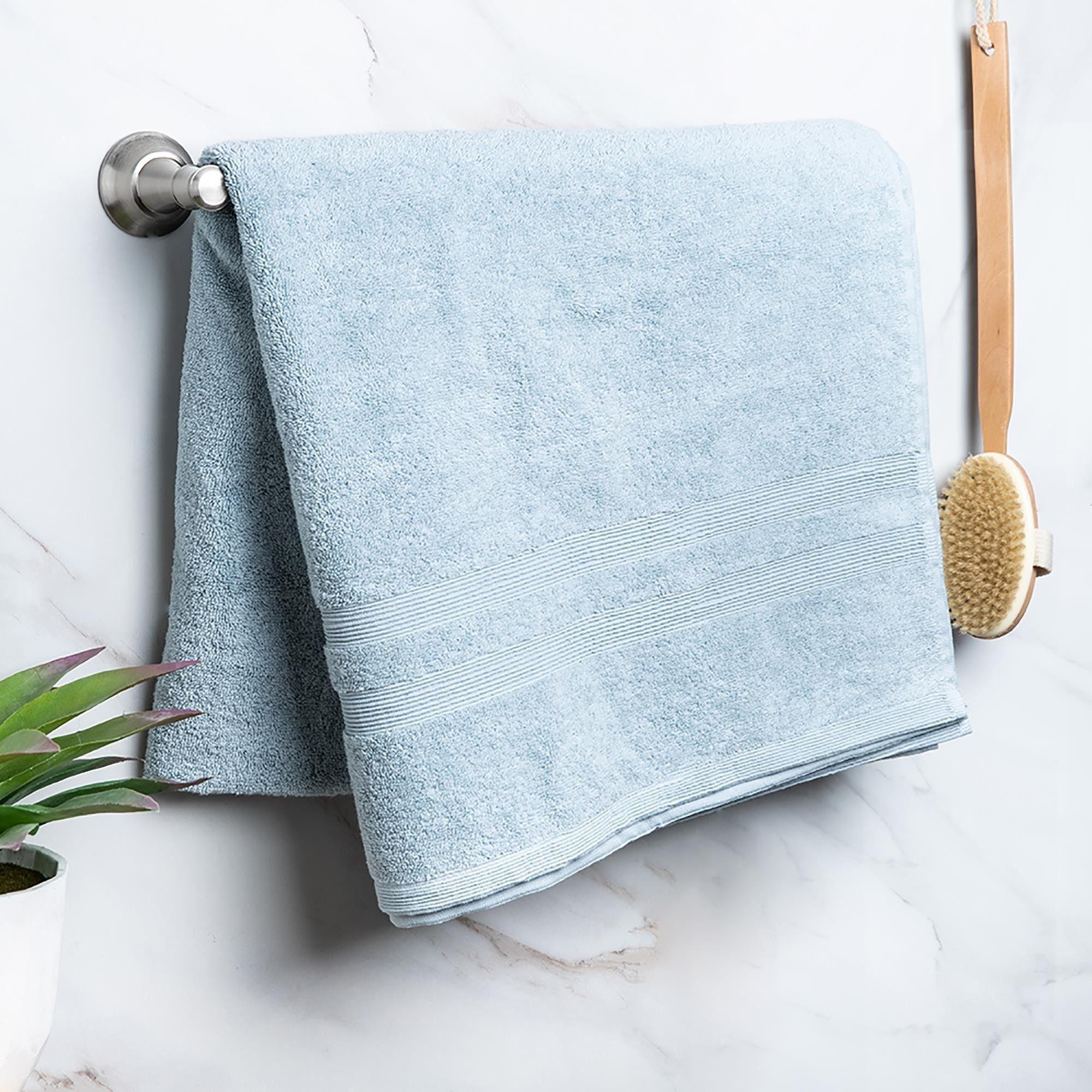 Moda At Home Allure Cotton Bath Sheet (Powder Blue) in