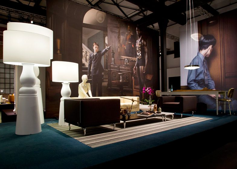 Dutch brand Moooi presented its Unexpected Welcome collection among giant portraits and undressed mannequins in Milan's Tortona district back in 2013.