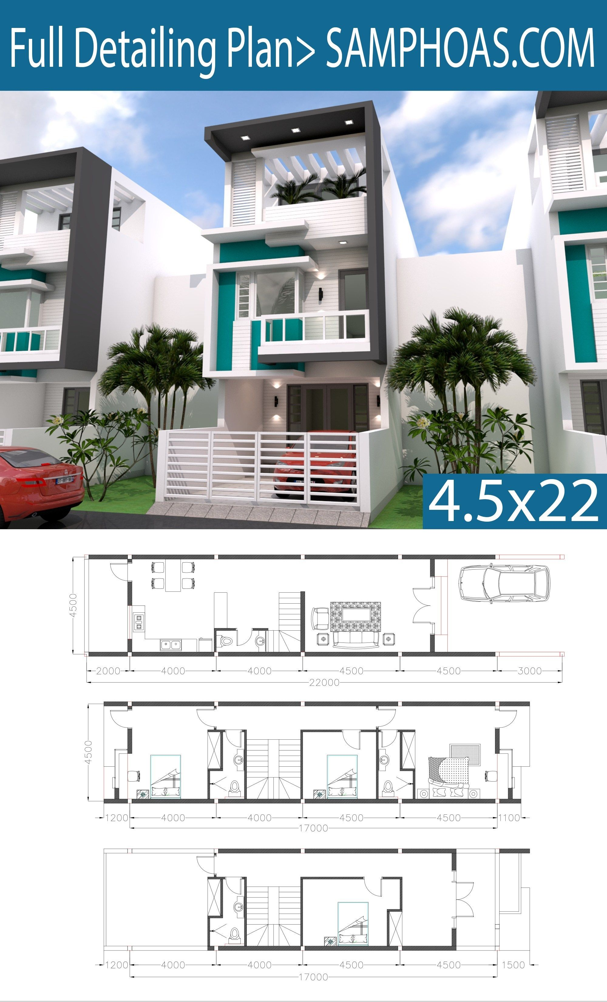 Sketchup 3 Story Narrow Home Plan 4.5x20m | Narrow house ... on 3-story small tower plans, contemporary narrow house plans, long narrow floor plans, 3-story tiny house plans, victorian narrow house plans, narrow urban row house plans, 3-story house plans urban, 3-story beach house designs, long and narrow bathroom plans, 3-story house floor plans, custom narrow house plans, 3-story house with elevator, narrow lot house plans, 3-story house with pool, long narrow house plans, craftsman narrow house plans, 3-story beach house plans, luxury 3-story house plans, narrow duplex house plans, 3-story traditional house plans,