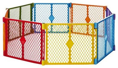 Portable Indoor Outdoor 8 Panel Safety Pet Dog Baby Toddler Play Gate Fence On Ebay