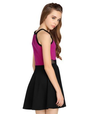 Sally Miller Girls' The Elli Sleeveless Color-Block Dress - Big Kid - Pink #sallymiller