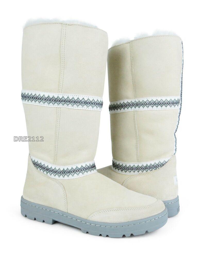 9b1a728b11d eBay Advertisement) UGG Sundance Revival White Suede Fur Boots ...