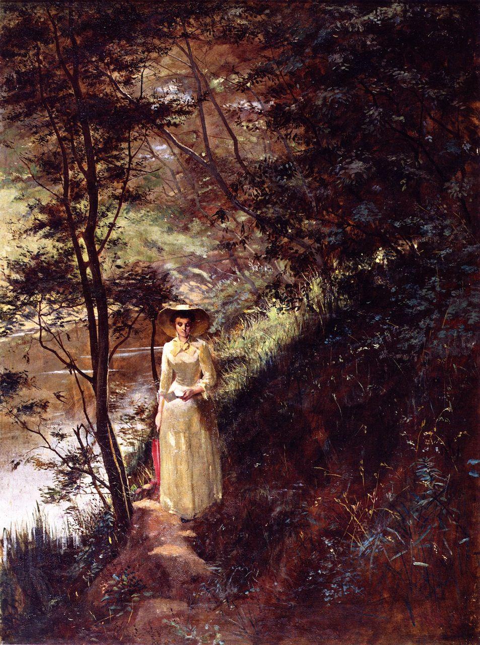The Letter Frederick Mccubbin 1884 25 February 1855 20 December 1917 Was An Australian Pa Famous Landscape Paintings Australian Painting Famous Art
