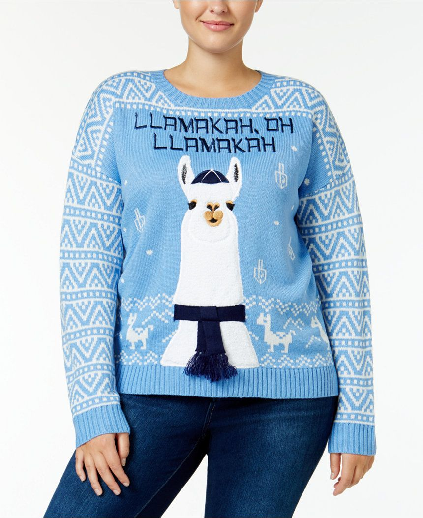 Macys Christmas Sweaters.It S Our Time Trendy Plus Size Llama Holiday Sweater