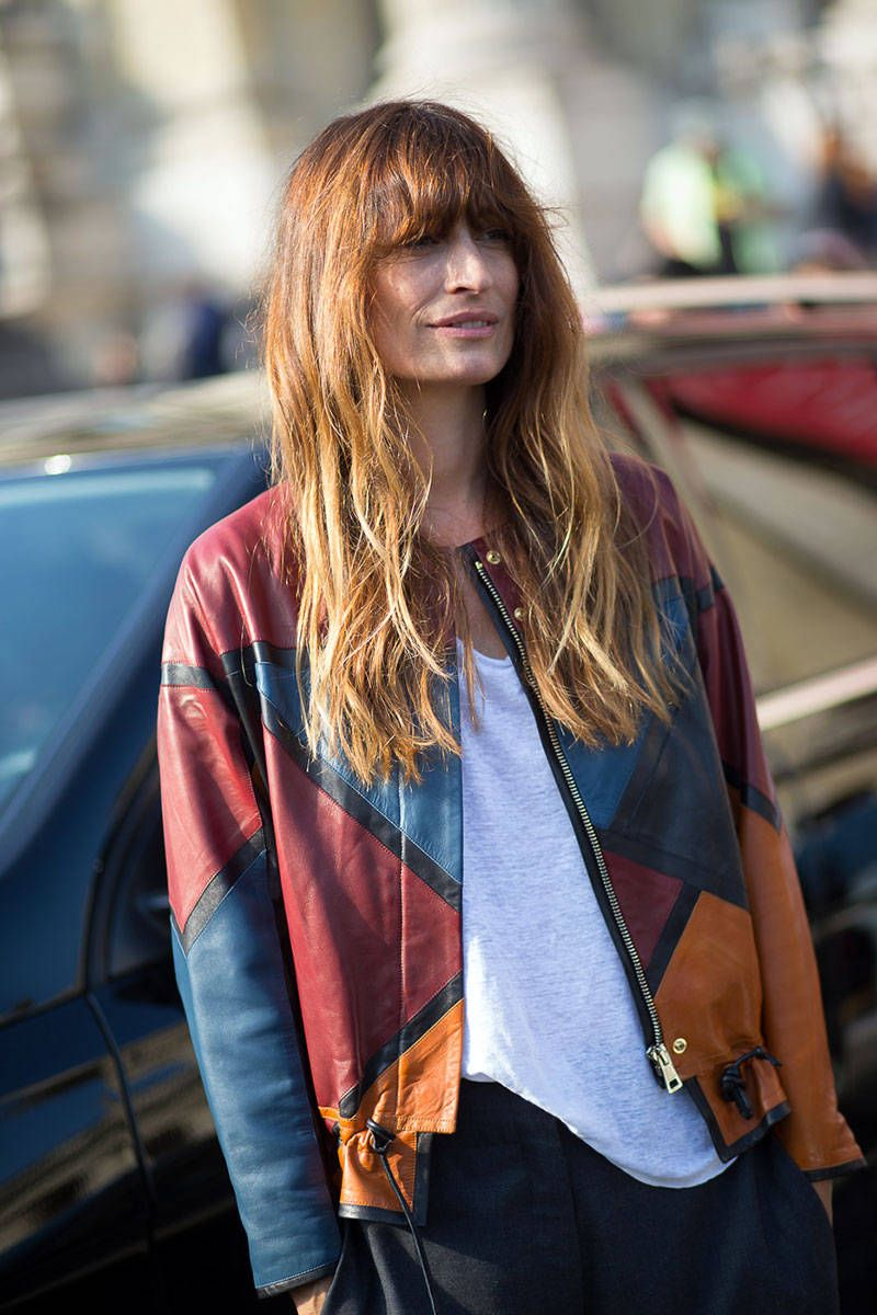 rad leather. #CarolineDeMaigret in Paris.