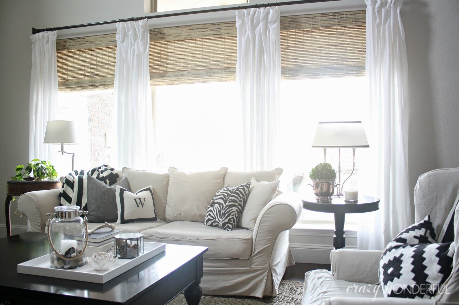 Crazy wonderful bamboo roman shades