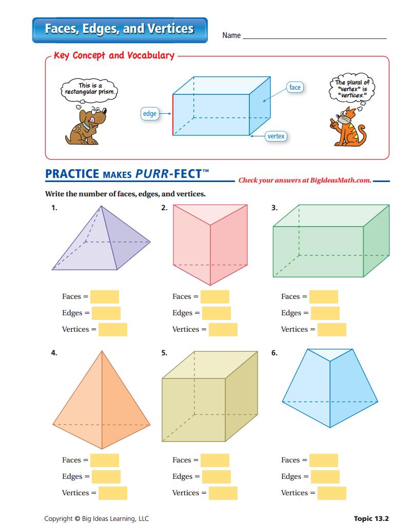 Surface area of 3d shapes worksheet ks2