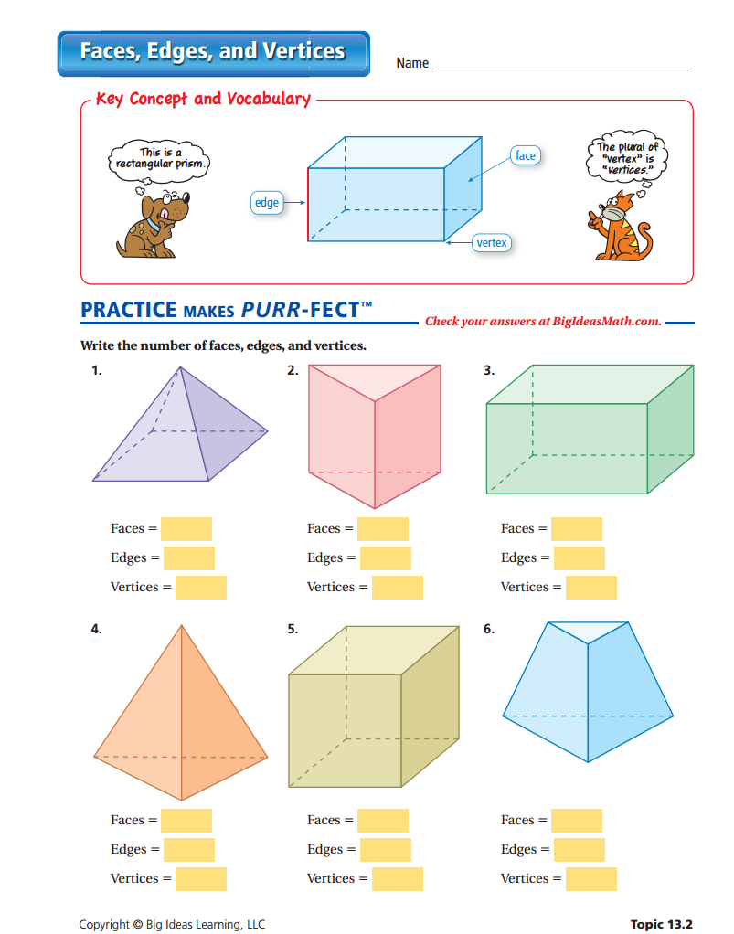 faces edges and vertices worksheet teaching resources shapes worksheets kindergarten. Black Bedroom Furniture Sets. Home Design Ideas