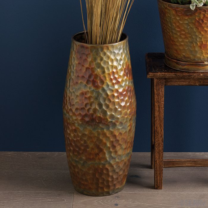 Accents - Hammered Iron Floor Vase