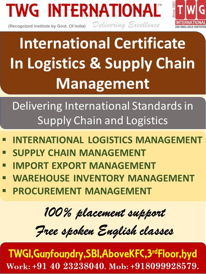 International Certificate In Logistics &