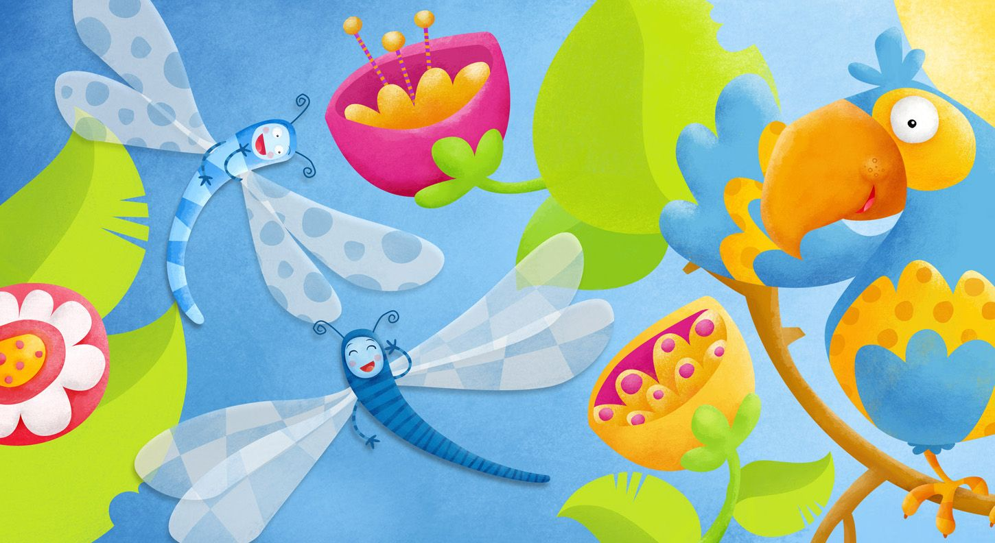This is a small part of a larger illustration, part of a children´s book  i´m working now...   I hope you like it :D   ...