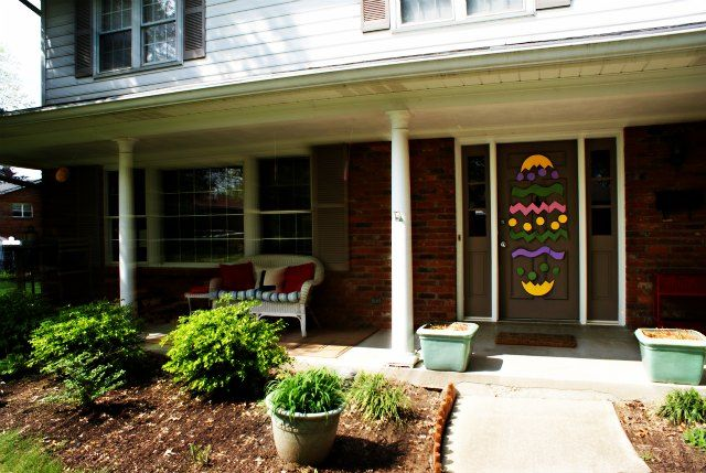 Easter Door | Easter and Front porch decorations