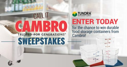 Awesome Win A Set Of Cambro Unbreakable Food Storage Containers ARV $400... IFTTT  Reddit