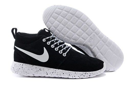 size 40 61ed1 27ff6 2015 roshe run 511881-020 suede high top black white men running shoes