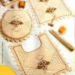 Tapetes de crochê para banheiro imagem 02