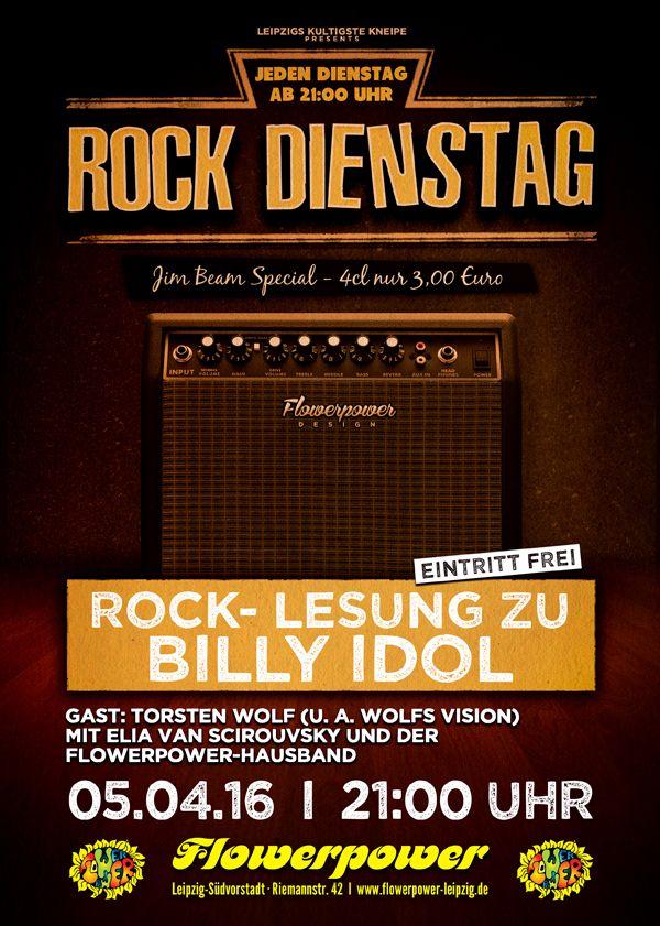 Dienstag, 05.04.16 - http://flowerpower.news/leipzig/Termine/rock-lesung-zu-billy-idol-gast-torsten-wolf