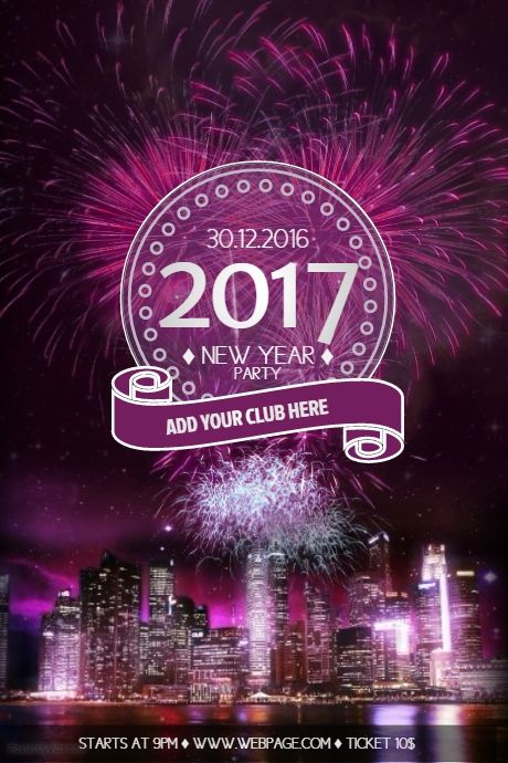 New Year Eve Party Flyer Template Free  Postermywall  New Year