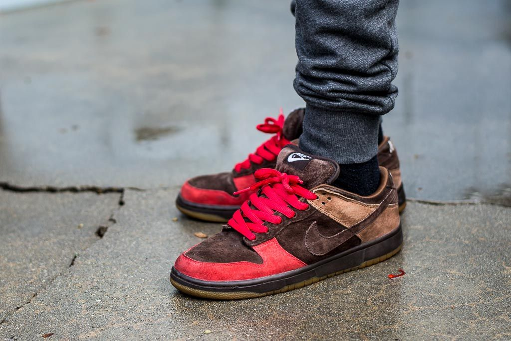 Nike Dunk Low Sb Bison On Feet Sneaker Review With Images Nike