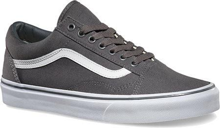 f8b02bec2c Vans Unisex Old Skool Skate Shoes (Canvas) Pewter True White VN-01R1GF5 (6  B(M) US Women   4.5 D(M) US Men