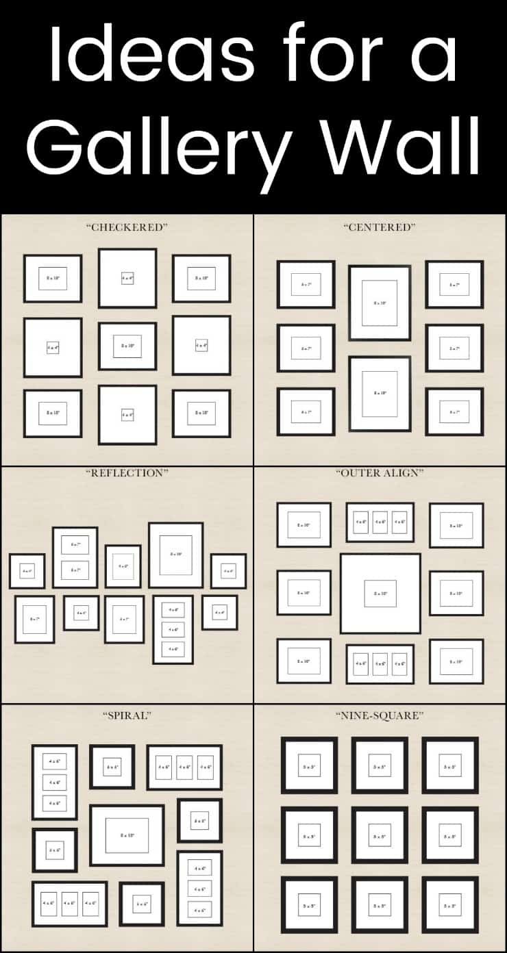 How to Create a Photo Gallery Wall -Templates and tips for your photo wall