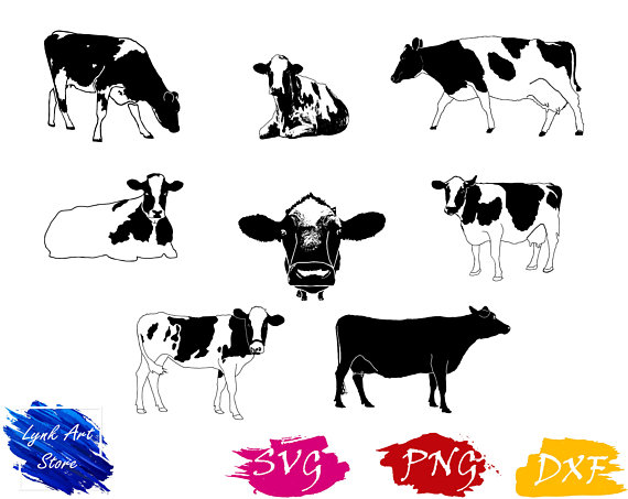 Pin By Etsy On Products Pinterest Cow Clip Art And Cow Clipart