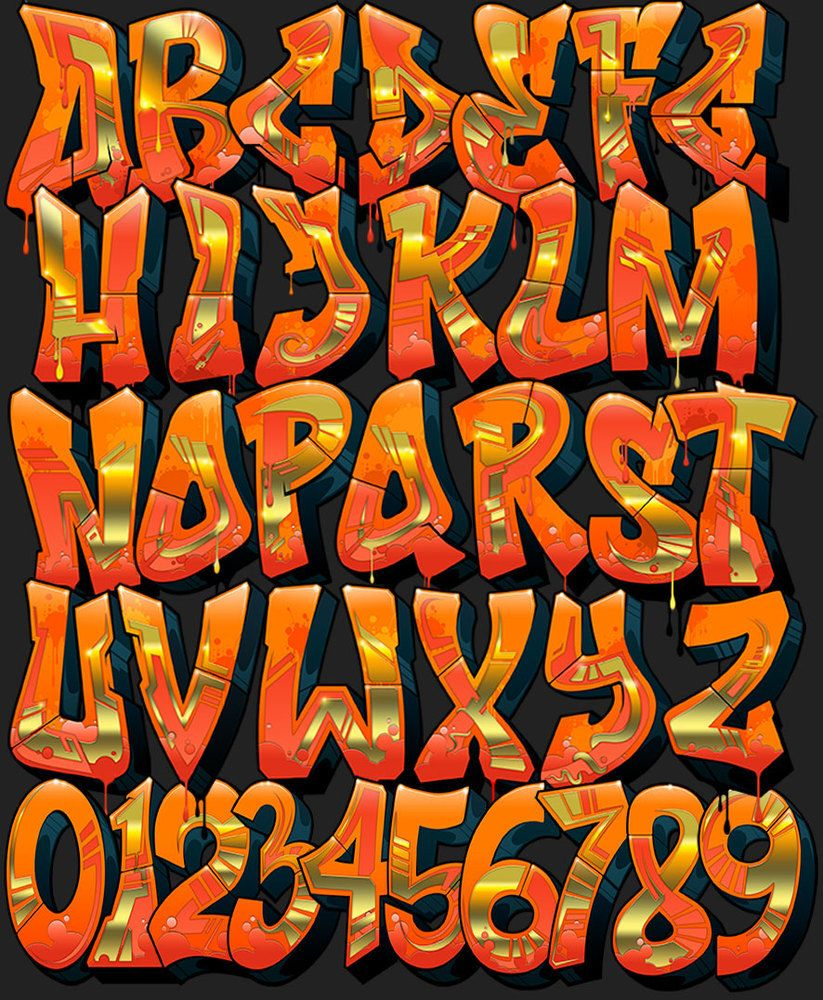 Image of graffiti font inferno alphabets in 2019 graffiti font graffiti alphabet styles - Alphabet graffity ...