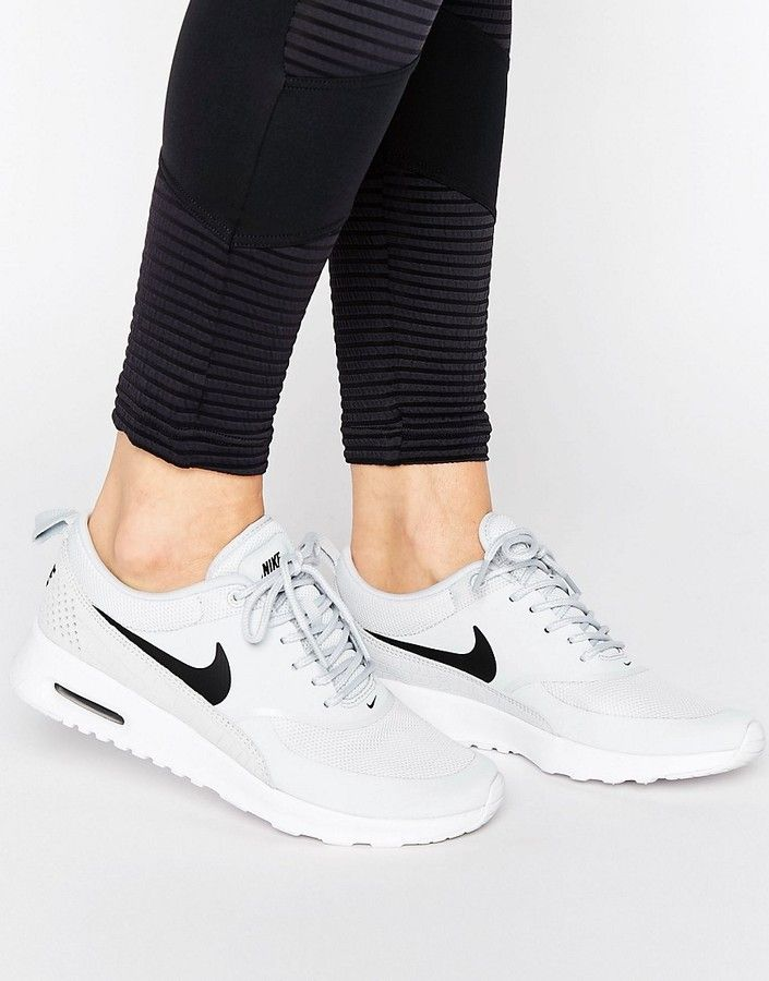 closer at best price wholesale price Nike Air Max Thea Trainers In Pale Grey | Gray nike shoes