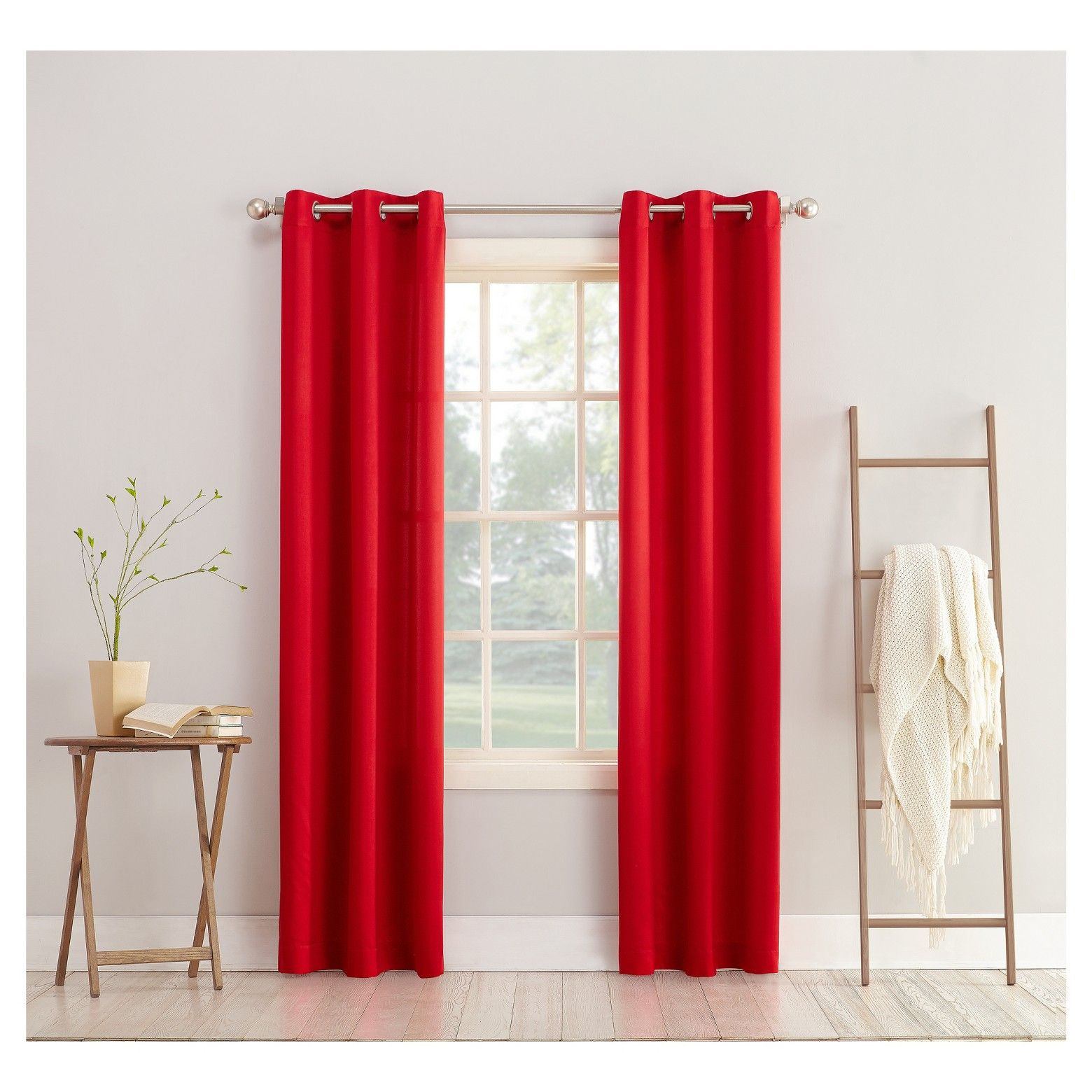 Lazlo Room Darkening Grommet Curtain Panel Sun Zero Curtains