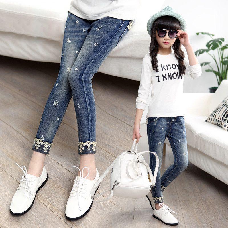 Pantalones Largos De Jeans Para Ninos En Los Ninos Grandes 12 Ninas Primavera Version Coreana Del Lapiz Pantalones De 1 Moda Para Ninas Pantalones De Moda Ropa