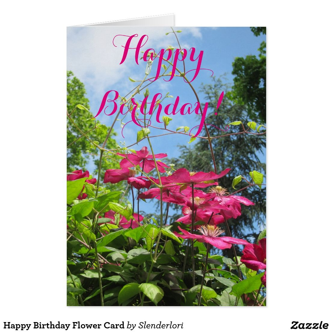 Happy birthday flower card birthday cards pinterest flower cards happy birthday flower card izmirmasajfo