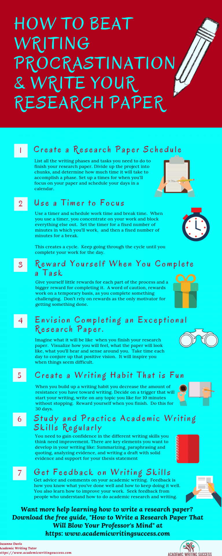 How To Overcome Research Paper Writing Procrastination 7 Powerful Tips Academic Writing Success Scientific Writing Academic Writing Research Paper