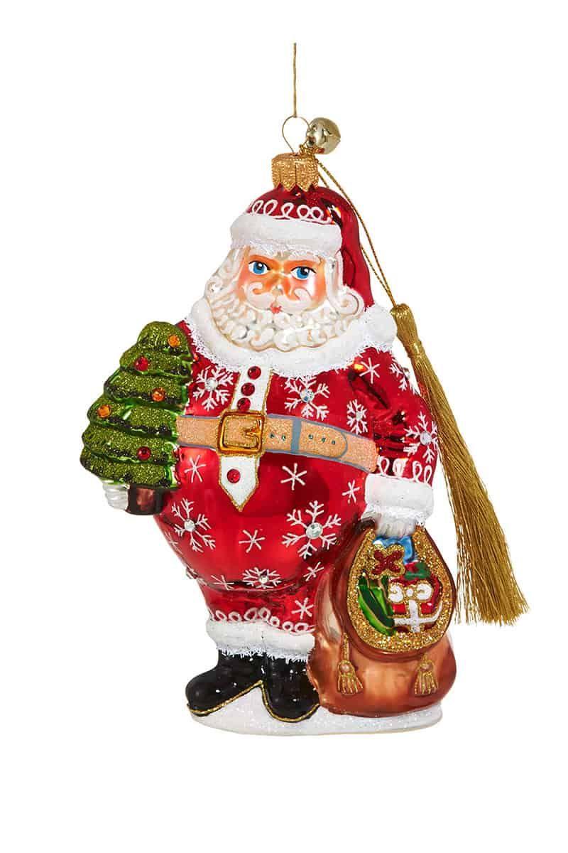 Nikolas Flakius Jinglenog Santa Ornaments Unique Christmas