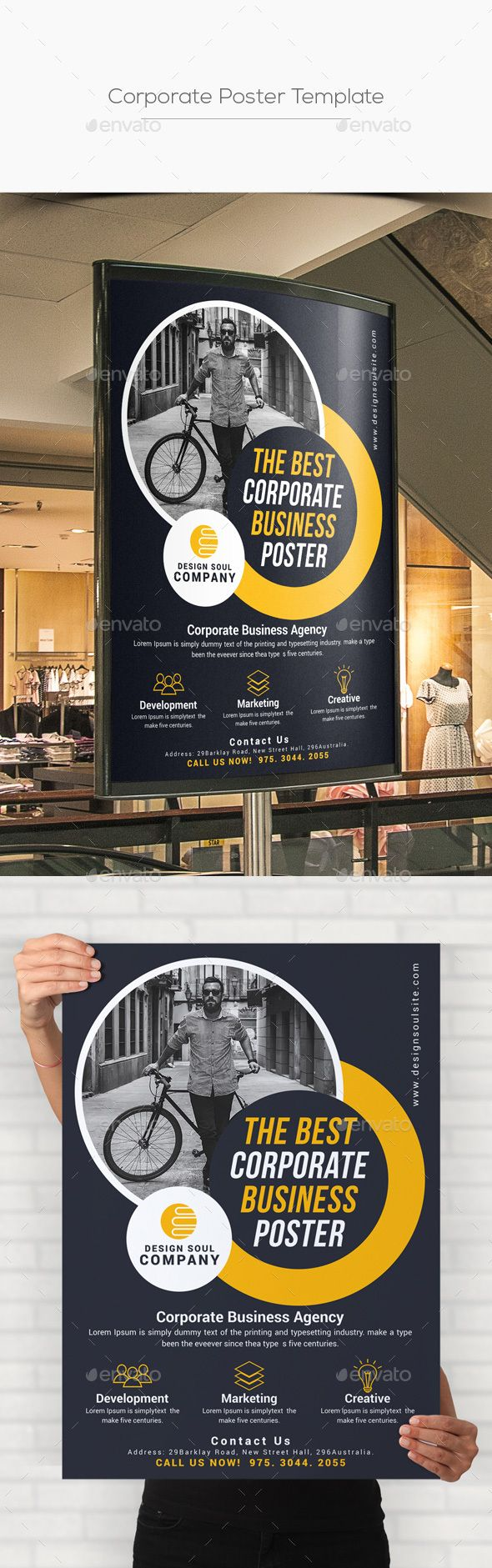 corporate poster template template adobe and signage