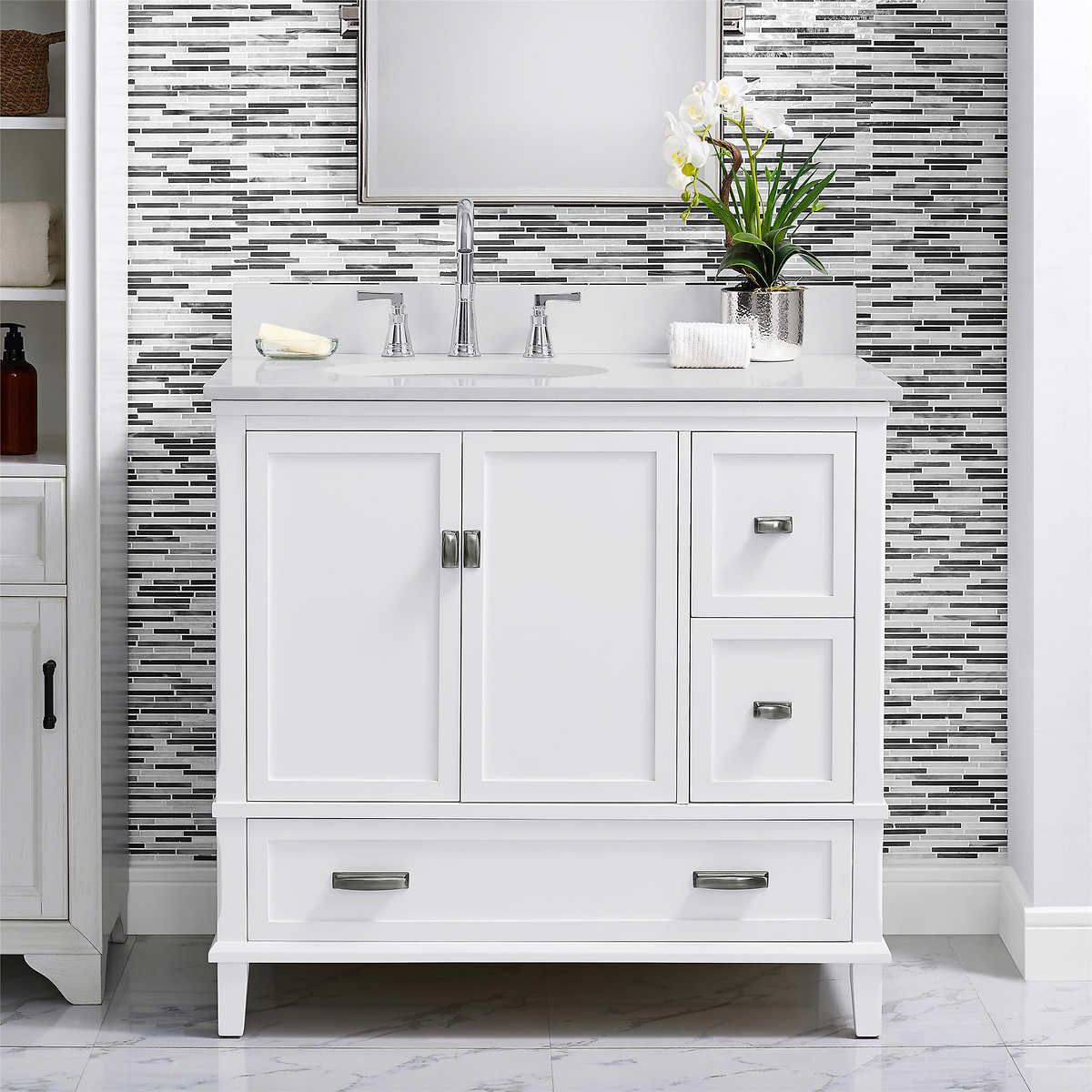 Dorel Home Canada Otum 36 In Bathroom Vanity Single Bathroom Vanity 36 Inch Bathroom Vanity 36 Bathroom Vanity