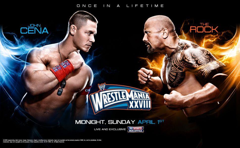 Wrestlemania 28 John Cena Vs The Rock Hd Wallpaper Wallpapers