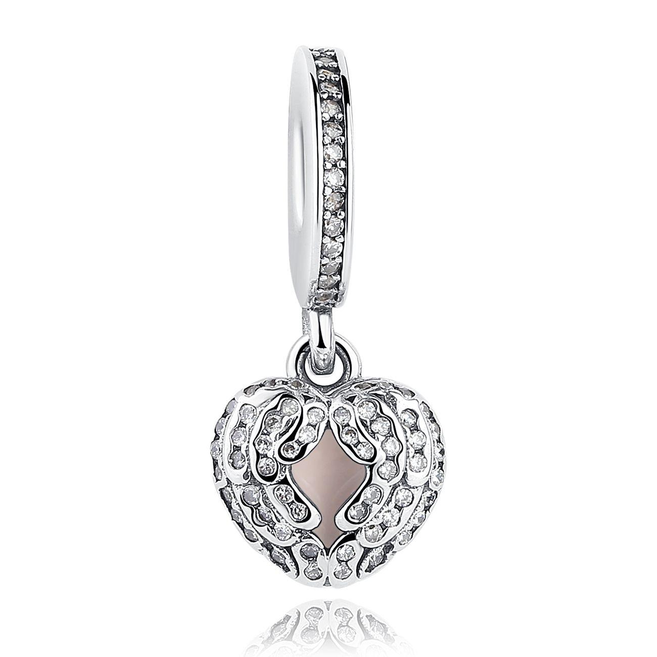 Bamoer Femmes Charme Européen S925 Sterling Silver Bead avec texture Fit Bracelet