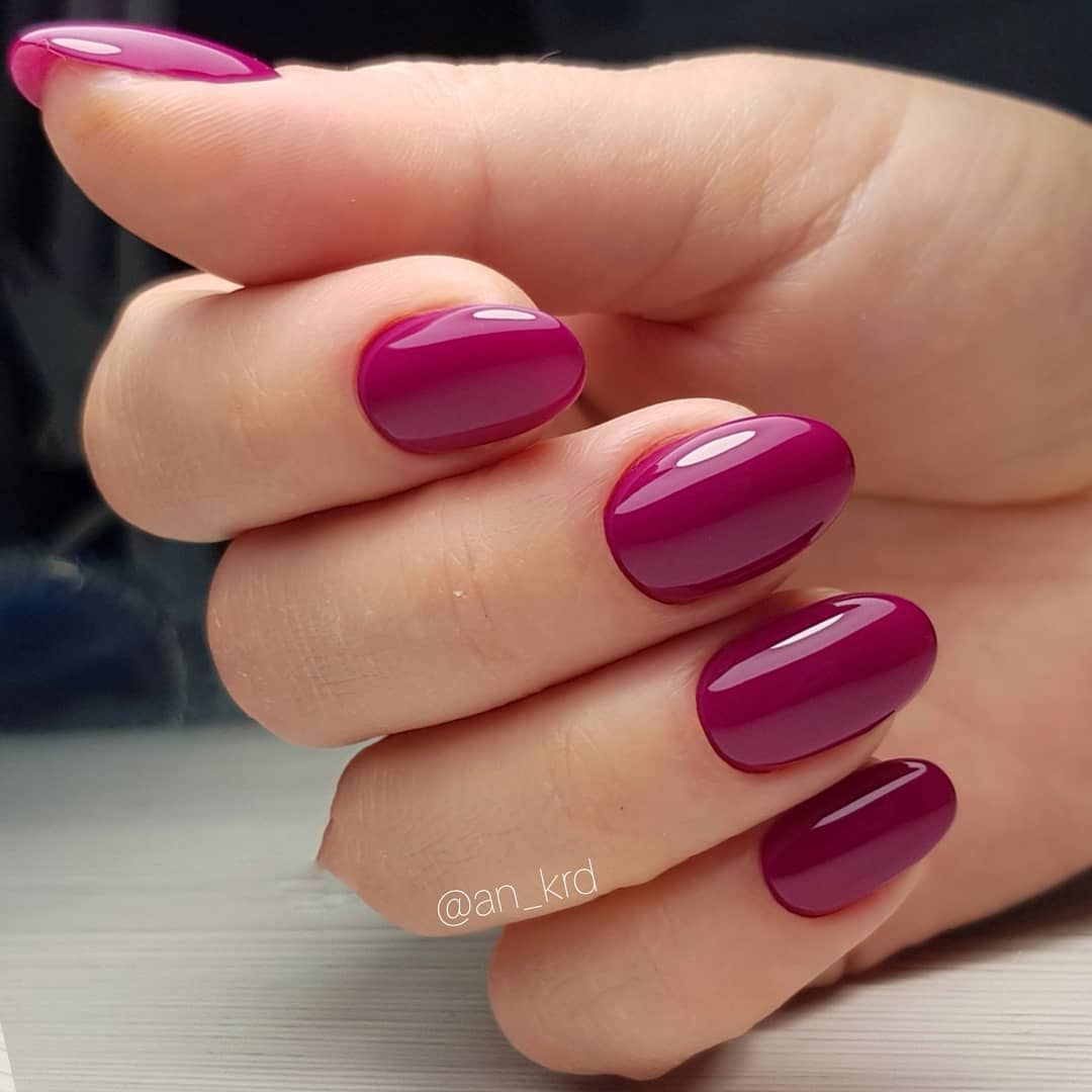 Burgundy nails art design