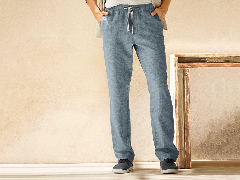 Pantalon De Lino Para Hombre Pantalones De Lino Hombre Pantalones De Lino Moda Hombre