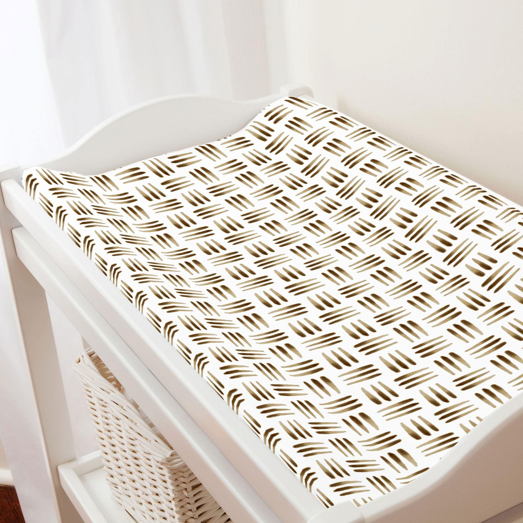 Brown Basket Changing Pad Cover in 2020 Changing pad