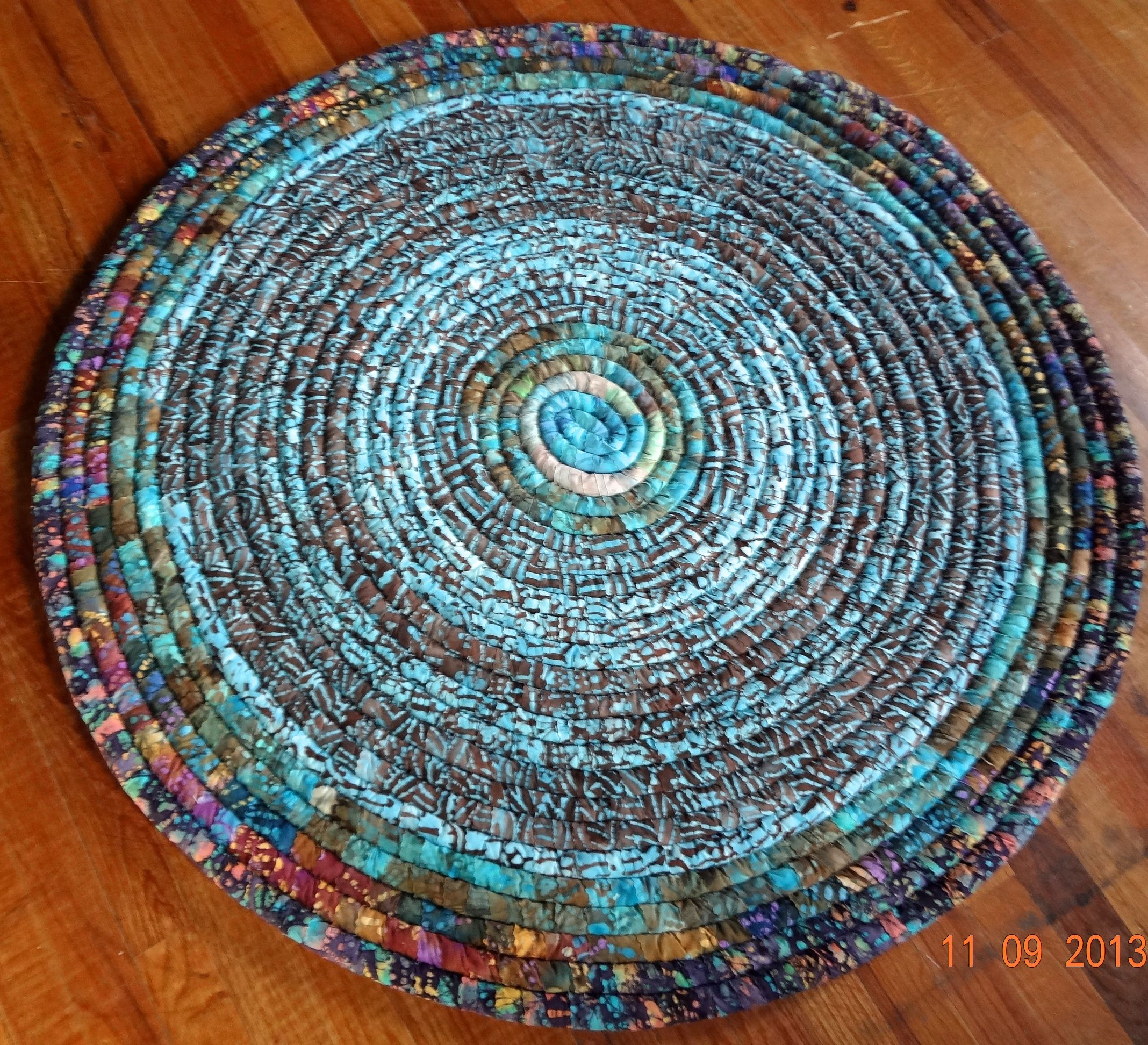 Coiled Rag Rug Instructions: Fabric Coiled Baskets Pottery And Rugs