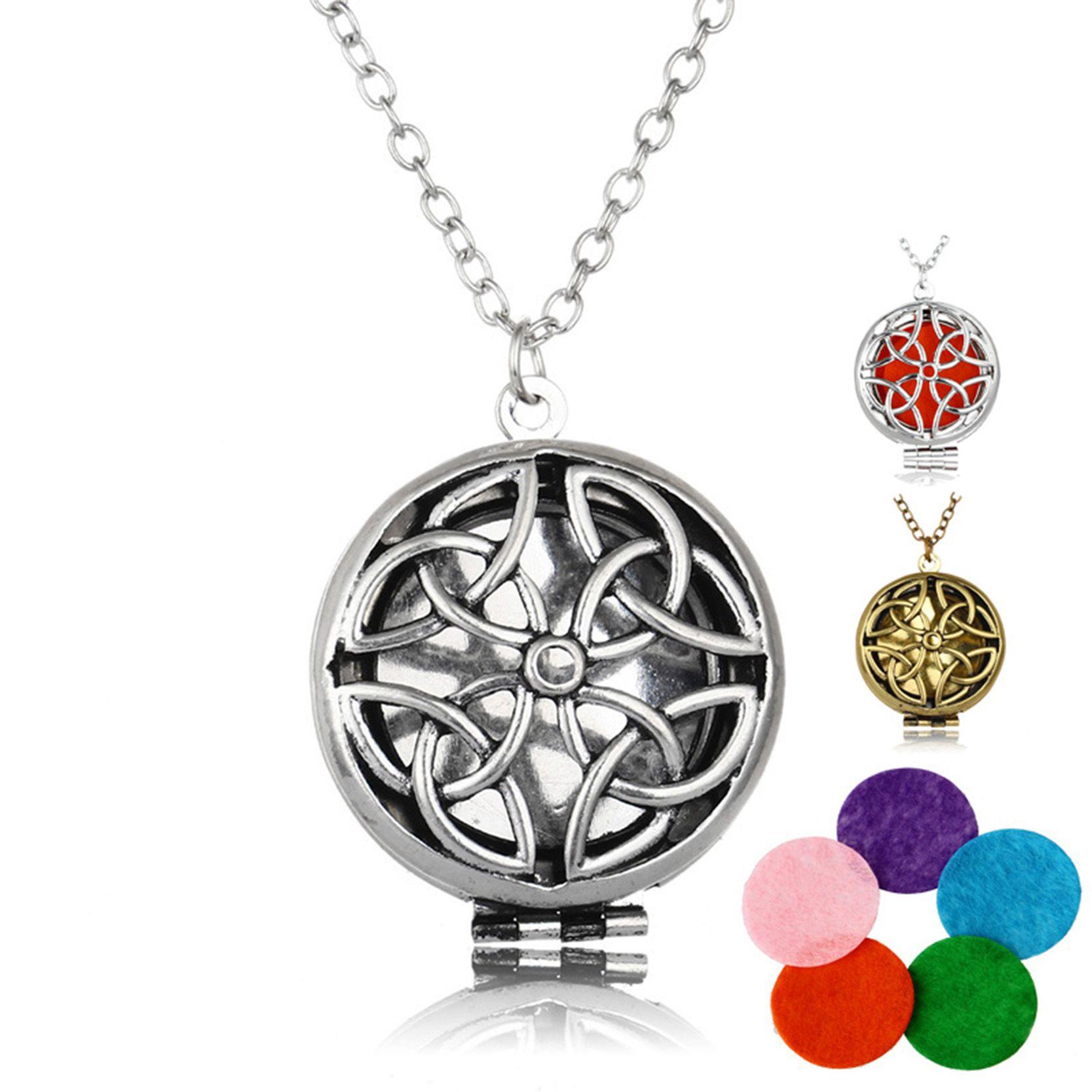 Aromatherapie Halskette Silber/Bronze Überzogen mit Einzigartige ...