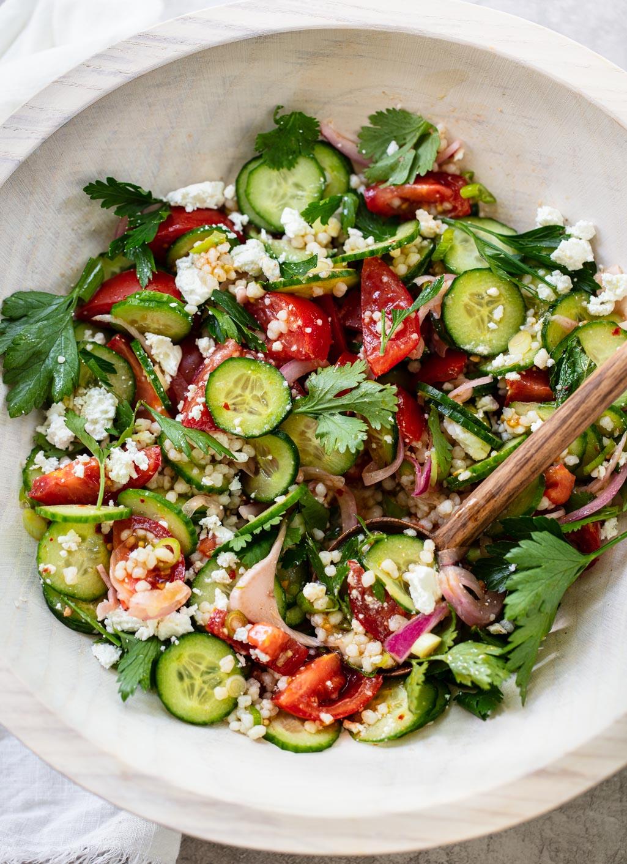 Israeli Couscous Salad with Feta images